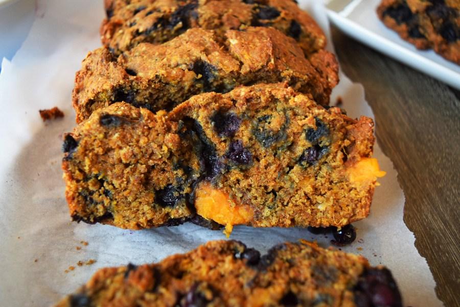 Wild Blueberry Sweet Potato Bread