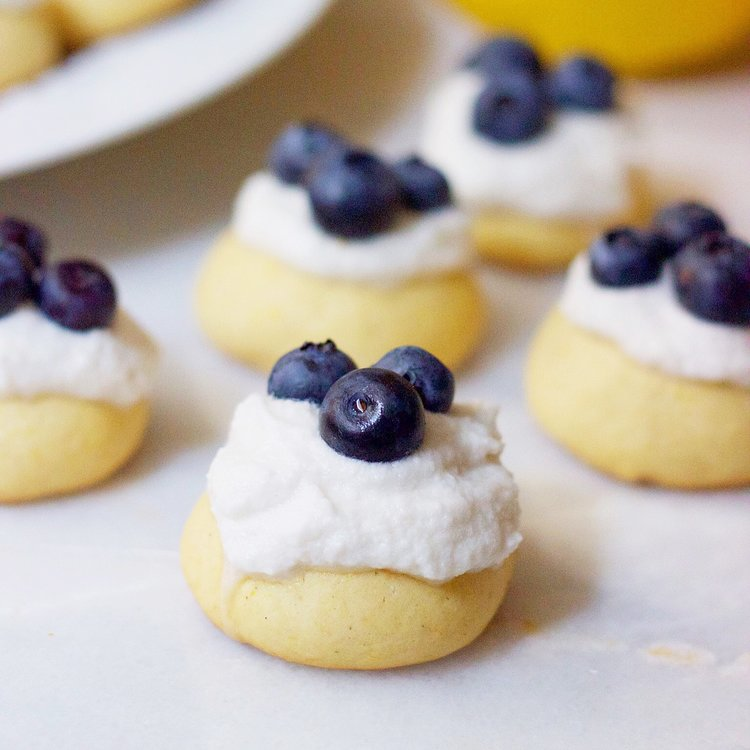 Lemon and Coconut Blueberry Cookies
