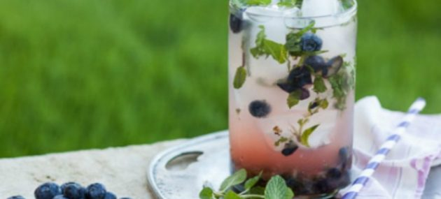 Blueberry-Herb Lemonade Punch
