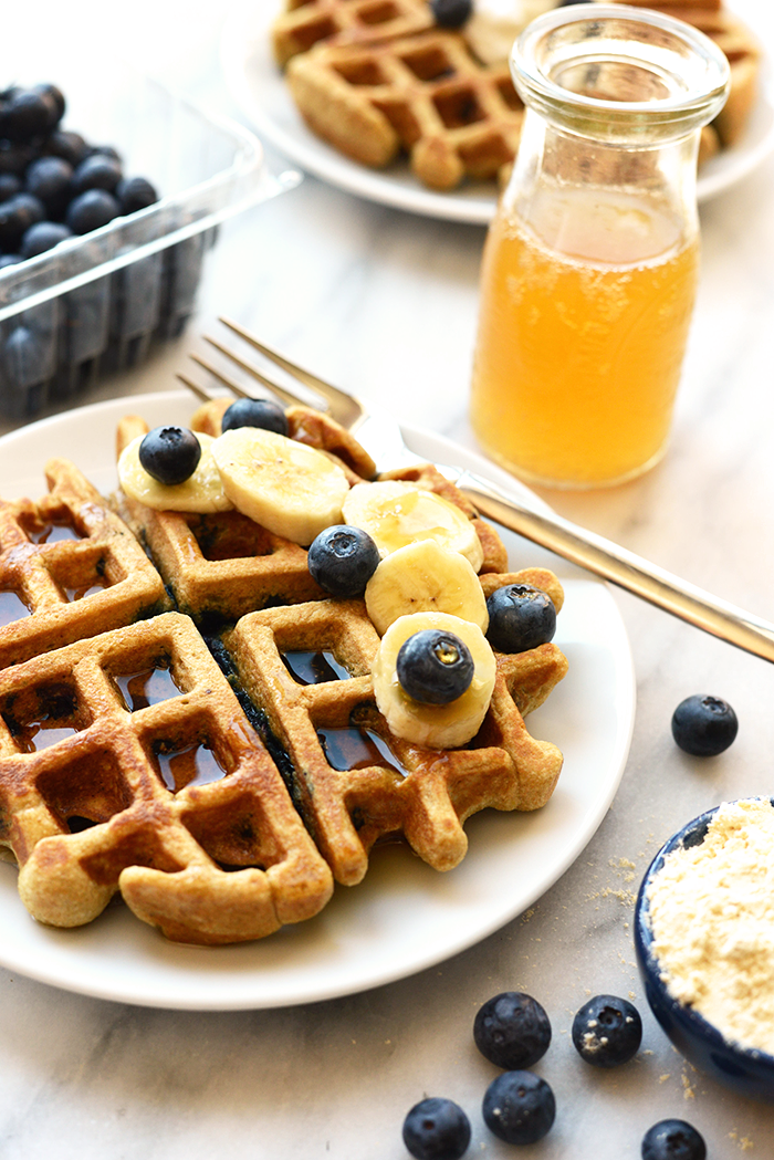 Healthy Blueberry Waffle