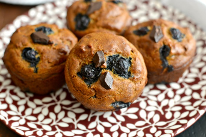Pumpkin blueberry muffins