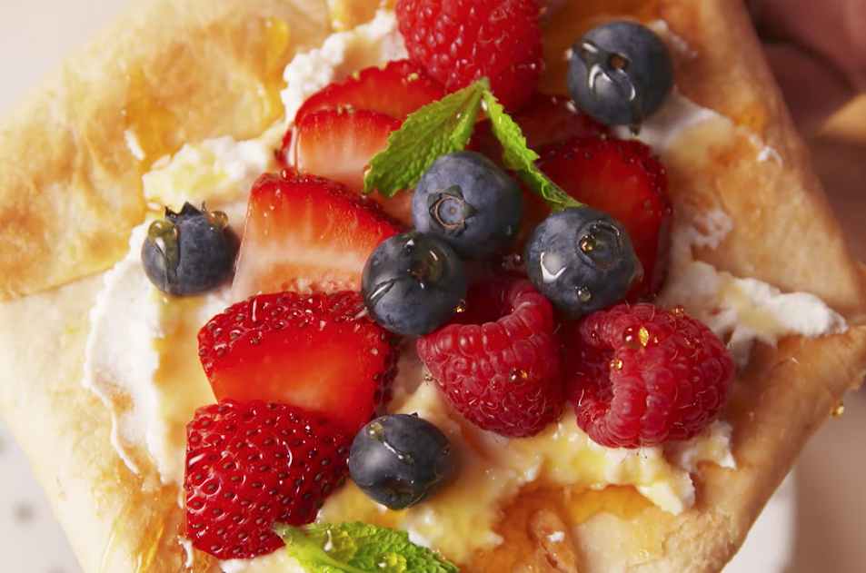 Summer Berry Tortilla Tart