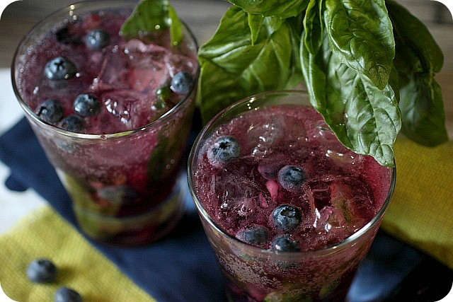 Blueberry Basil Infused Vodka